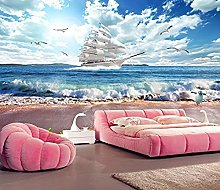 Wallpaper Beach DIY Living Room Bedroom 3D Mural
