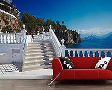 Wallpaper Beautiful Balcony with Sea View
