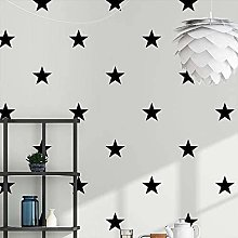 Wallpaper Black White Star Baby Nursery Wallpaper