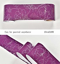 Wallpaper Border Purple self Adhesive Thicken