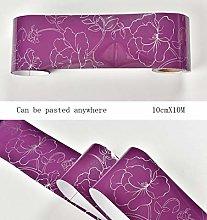 Wallpaper Border Purple self Adhesive Thicken