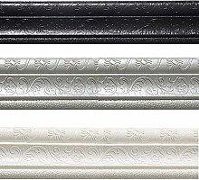 Wallpaper Border Self Adhesive Grey Silver White