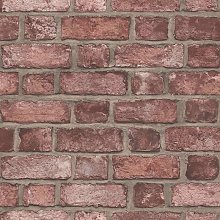 Wallpaper Brick Wall Red - Red - Homestyle