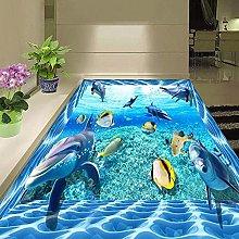 Wallpaper for Bathroom Cartoon Ocean Floor Wall