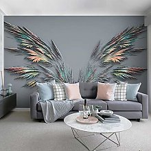 Wallpaper for Bedroom Abstract Wings 137.8x100.8