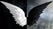 Wallpaper for Bedroom Black and White Wings
