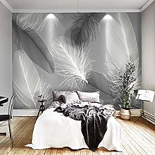 Wallpaper for Bedroom Black-Edged Feathers