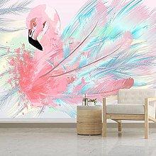 Wallpaper for Bedroom Flamingo Feather 98.5x69