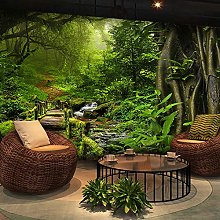 Wallpaper for Bedroom Green Forest 157.5x110.2inch