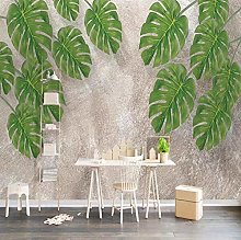 Wallpaper for Bedroom Green Leaves 118x82.7 inch