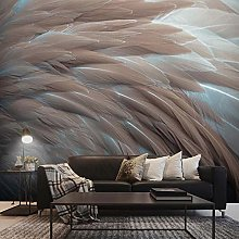 Wallpaper for Bedroom Grey Feathers