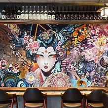 Wallpaper for Bedroom Japanese Geisha 79x59 inch