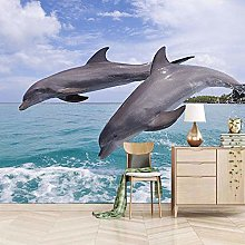 Wallpaper for Bedroom Jumping Dolphin 79x59 inch