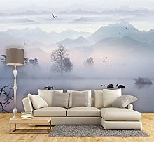 Wallpaper for Bedroom Misty Mountain View 79x59