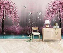 Wallpaper for Bedroom Pink Cherry Blossom 79x59