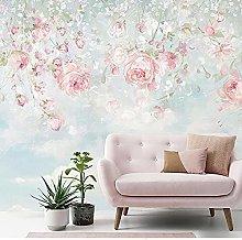 Wallpaper for Bedroom Pink Flower 118x82.7 inch