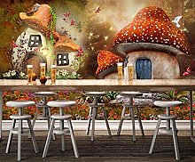 Wallpaper for Bedroom Pink Mushroom 98.5x69 inch