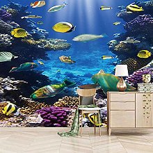 Wallpaper for Bedroom Shoal of Sea Fish 79x59 inch