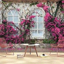 Wallpaper for Bedroom Street View Flowers 98.5x69