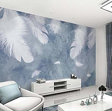 Wallpaper for Bedroom White Feather 118x82.7 inch