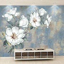 Wallpaper for Bedroom White Flower 98.5x69 inch