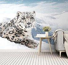 Wallpaper for Bedroom White Snow Leopard 59x39.5