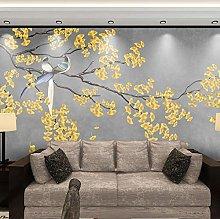 Wallpaper for Bedroom Yellow Bird On Branch