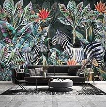 Wallpaper for Bedroom Zebra Leaves 98.5x69 inch