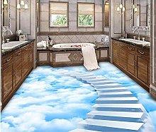 Wallpaper for Floor Clouds Step Ladder Bathroom