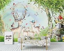Wallpaper for Kids Room Forest Rainbow Elk Woods