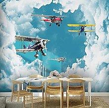 Wallpaper for Kids Room Modern Mediterranean Blue