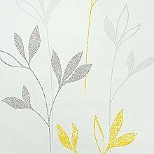 Wallpaper for Living Room Modern White Grey Yellow