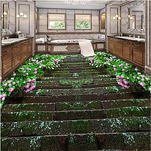 Wallpaper for Walls 3 d Fresco Flower Path to The