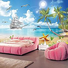 Wallpaper for Walls 3D Seaside Landscape Beach