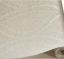 Wallpaper - Luxury Kismet Damask / Glittered -
