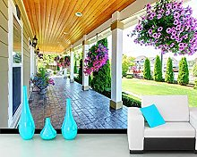 Wallpaper Luxury Porch with Beautiful Flower