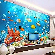 Wallpaper Mural Blue Underwater World Colorful