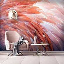 Wallpaper murals 3D Flamingo Feather Living Room