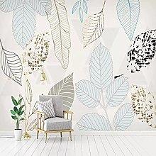 Wallpaper murals 3D Modern Leaves Living Room