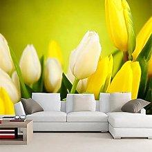 Wallpaper murals 3D Yellow Tulips Living Room