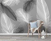 Wallpaper murals Modern 3D Feather Living Room