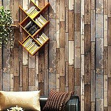 Wallpaper Non Woven 10M, Wood Grain 68808-Dark