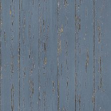 Wallpaper Old Wood Blue - Blue - Homestyle