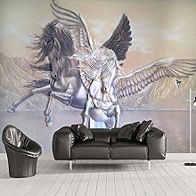 Wallpaper Photo Pegasus with Wings 3D Non-Woven