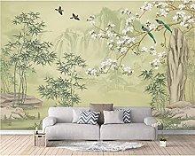 Wallpaper Photo Wallpaper Bamboo Flower and Bird