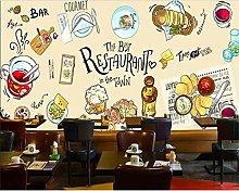 Wallpaper Restaurant Gourmet Restaurant Mural