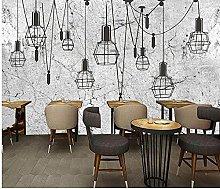 Wallpaper Retro Old Cement Wall Chandelier Coffee