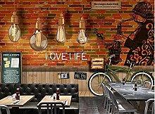 Wallpaper Retro Saxax Chandelier Bar Coffee Shop