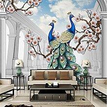 Wallpaper Scandinavian Style Auspicious Peacock