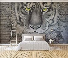 Wallpaper Tiger DIY Living Room Bedroom 3D Mural